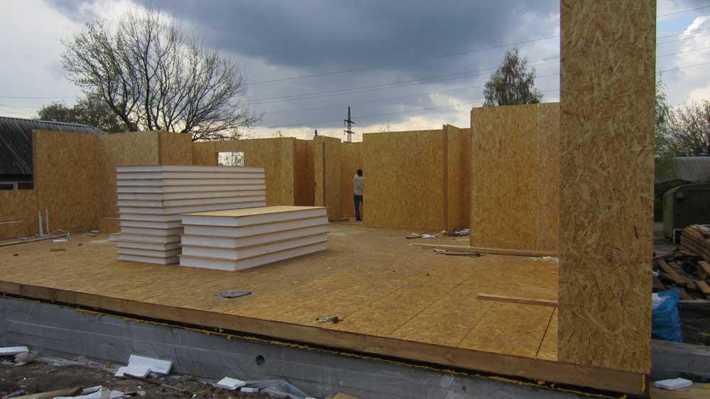 Строительство жилого дома из СИП-панелей